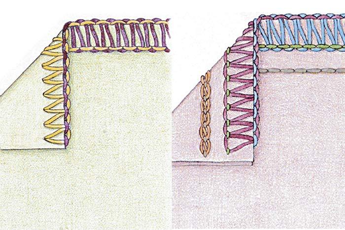 نمونه دوخت سردوز 5 نخ و سه نخ